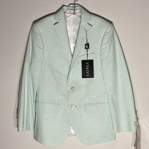 RALPH LAUREN**Green/White Striped Blazer 8R $118